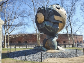 The Sphere With Castle Clinton In Background-Battery Park