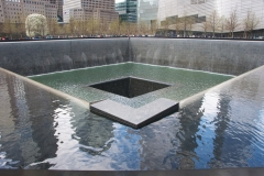 Reflecting Absence Memorial Pool in North Tower Footprint