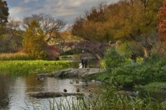 Gapstow Bridge In Autumn-Central Park