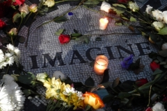 """John Lennon's Memorial In Central Park-""""Imagine"""""""