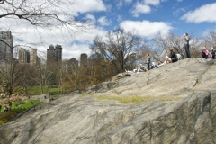 Great Views Reward Climbers Onto Central Park Manhattan Schist Outcroppings