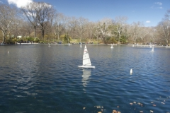 Model Boat At Conservancy Water-Central Park