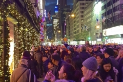 Onlookers Delight In Fifth Avenue's Extravagant Holiday Window Displays