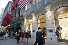 Holiday Shoppers Along NYC's Famous Fifth Avenue