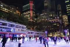 Ice Skaters Have Fun On Bryant Park's Winter Village Ice Rink
