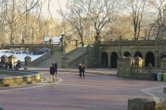 A Somewhat Quieter Bethesda Terrace In Central Park In Winter