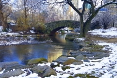 Looking SE To Central Park's Stunning Gapstow Bridge In Winter