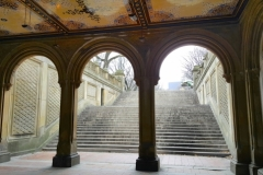 Winter Day At Bethesda Terrace In Central Park