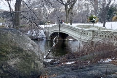Wintertime At The Bow Bridge, Central Park