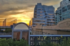 Sunset Along The High Line-Facing West
