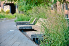 Wood Chaises Along Sundeck, High Line Park