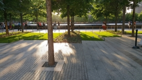 9-11 Memorial Plaza On Former Ground Zero Site