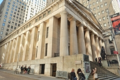 Federal Hall National Memorial-Looking NE-Wall St
