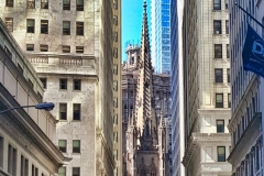 Trinity Church Viewed From Wall St